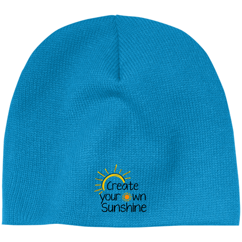 EMBROIDERED SUNSHINE 100% Acrylic Beanie