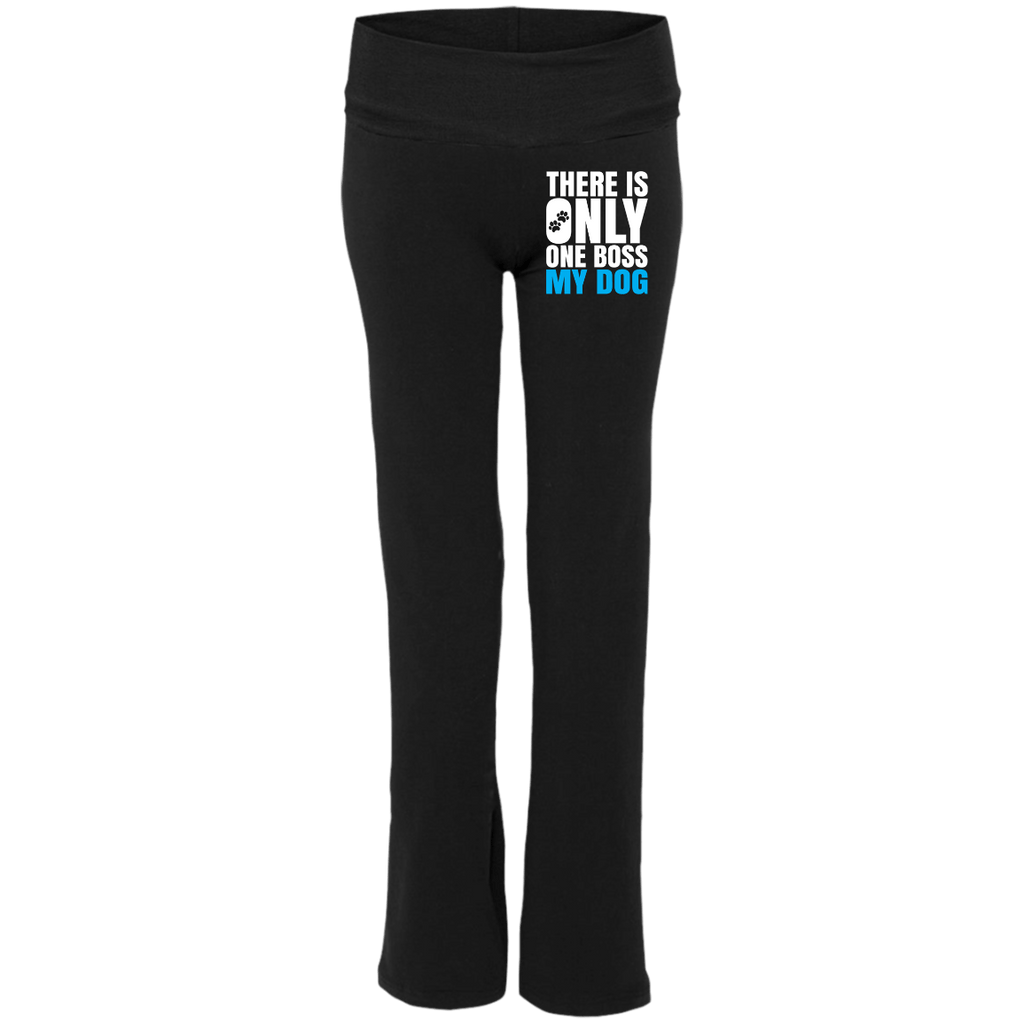DOG IS BOSS Boxercraft Ladies' Yoga Pants- EMBROIDERED Design
