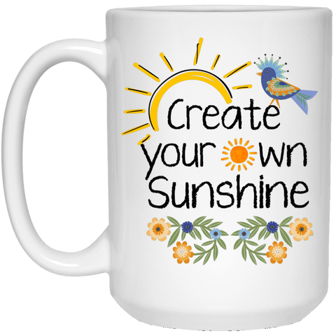 SUNSHINE White Mug - BIG 15 oz. size