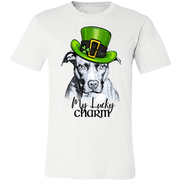 MY LUCKY CHARM PIT BULL PREMIUM BELLA CANVAS TEES - SIZES TO 4XL