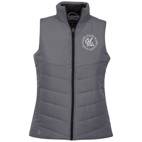 EMBROIDERED OIL BABE Holloway Ladies' Quilted Vest