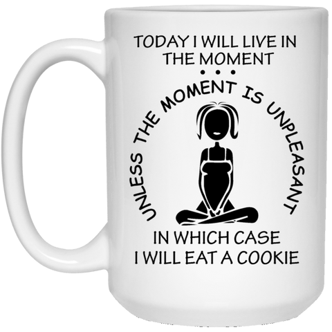 IN THE MOMENT White Mug - BIG 15 oz. size