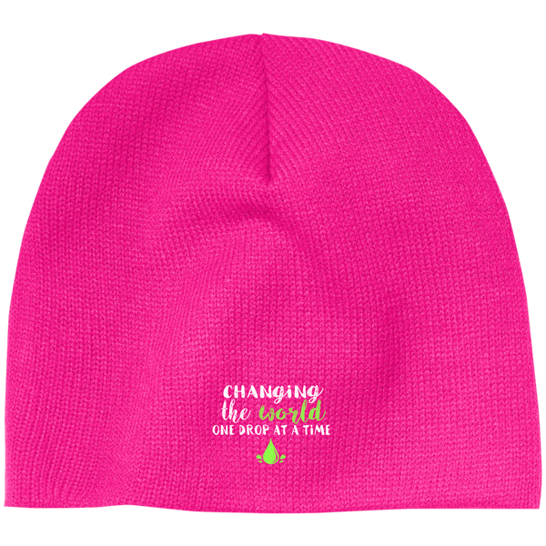 EMBROIDERED ONE DROP 100% Acrylic Beanie