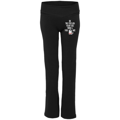 BE THE PERSON Ladies' Yoga Pants - EMBROIDERED Design