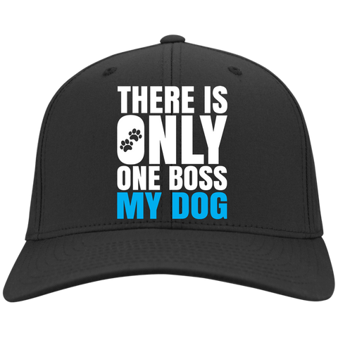 DOG IS BOSS Sport-Tek Dry Zone Nylon Cap - EMBROIDERED Design