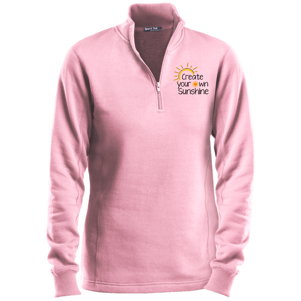 EMBROIDERED SUNSHINE Sport-Tek Ladies' 1/4 Zip Sweatshirt2- 6 Colors to Choose From