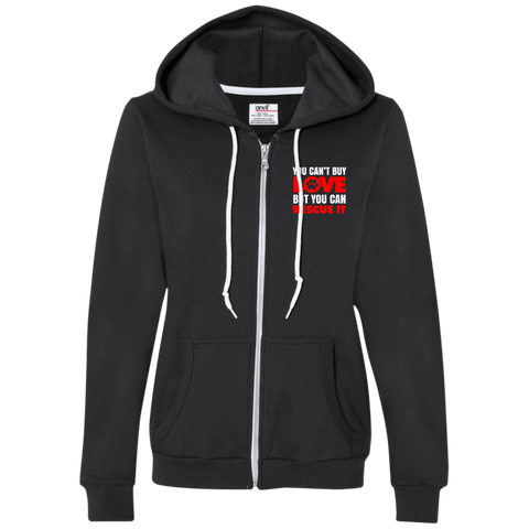 RESCUE Ladies Full-Zip Hooded Fleece - EMBROIDERED Design