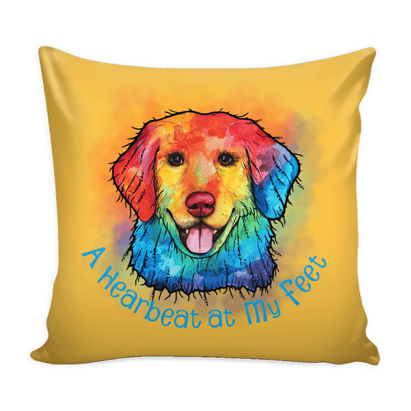 ORIGINAL DESIGN GOLDEN RETRIEVER THROW PILLOW COVER
