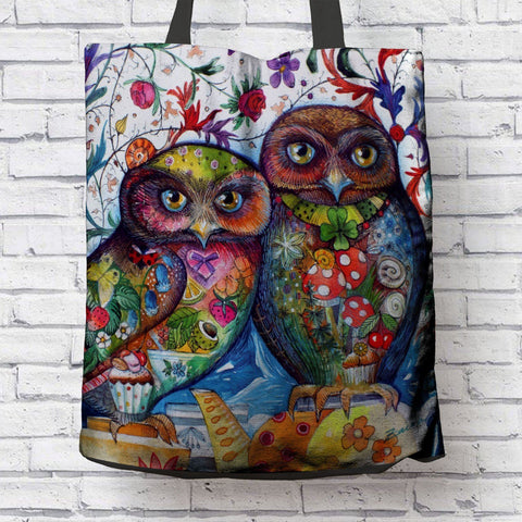 AMAZING OWLS CANVAS TOTE