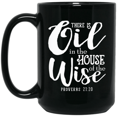 PROVERBS Black Mug - BIG 15 oz. size
