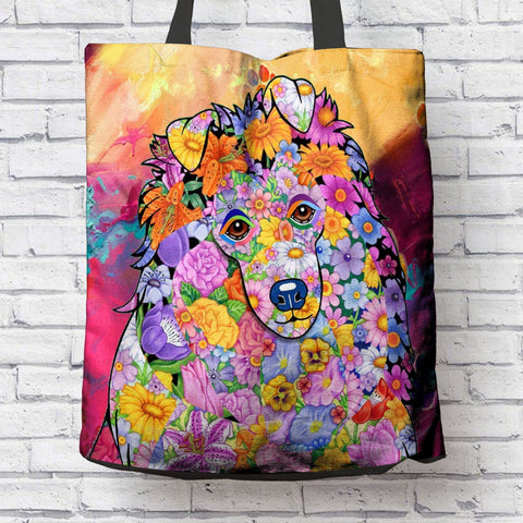 FABULOUS SHETLAND SHEEPDOG CANVAS TOTE