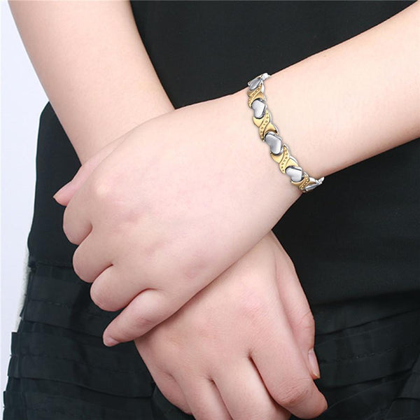MAGNETIC THERAPY HEART BRACELET - FREE SHIPPING