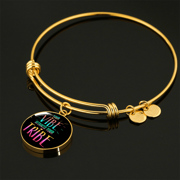 "GORGEOUS ""YOUR VIBE"" NECKLACE & BANGLE BRACELET - AVAILABLE IN BOTH GOLD & SILVER"