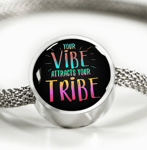 "GORGEOUS STAINLESS STEEL ""YOUR VIBE"" BRACELET"