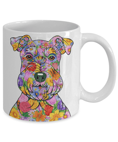 FLOWER SCHNAUZER MUG - COMES IN BLACK TOO