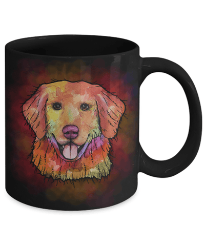 GORGEOUS WATERCOLOR GOLDEN RETRIEVER MUG - COMES IN WHITE TOO