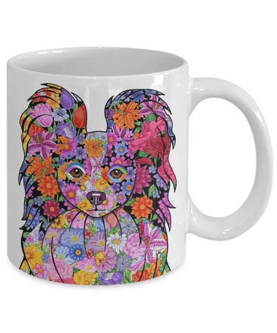 FLOWER PAPILLON MUG - COMES IN BLACK TOO