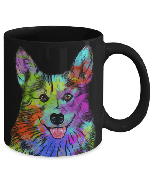 GORGEOUS POP ART CORGI - DESIGN ON BOTH SIDES