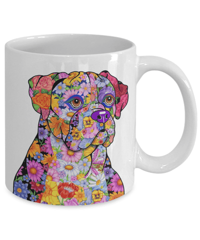 FLOWER BOXER MUG - COMES IN BLACK TOO