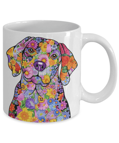 FLOWER BEAGLE MUG - COMES IN BLACK TOO