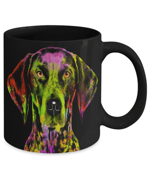 GORGEOUS POP ART GERMAN POINTER BLACK MUG - DESIGN ON BOTH SIDES