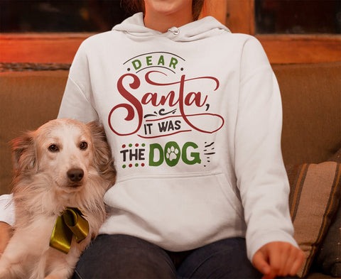 FUNNY IT WAS THE DOG HOODED SWEATSHIRT - UP TO 4XL - 2 COLORS