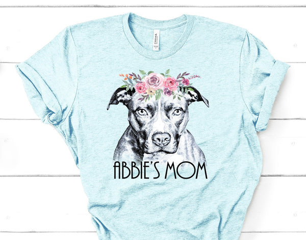 BEAUTIFUL BOHO PIT BULL TEES - UP TO 4XL - 4 COLORS - PERSONALIZATION INSTRUCTIONS BELOW