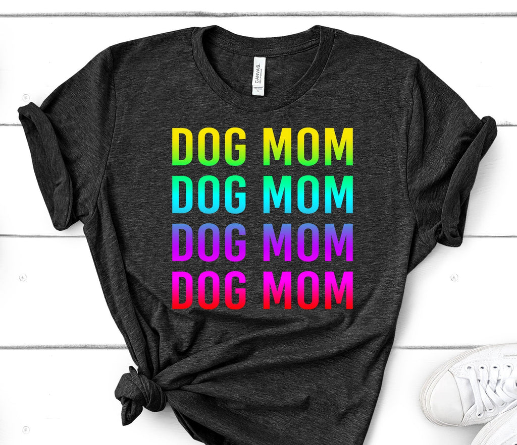 CUTE OMBRE COLORED DOG MOM TEES - UP TO 4XL - 2 COLORS