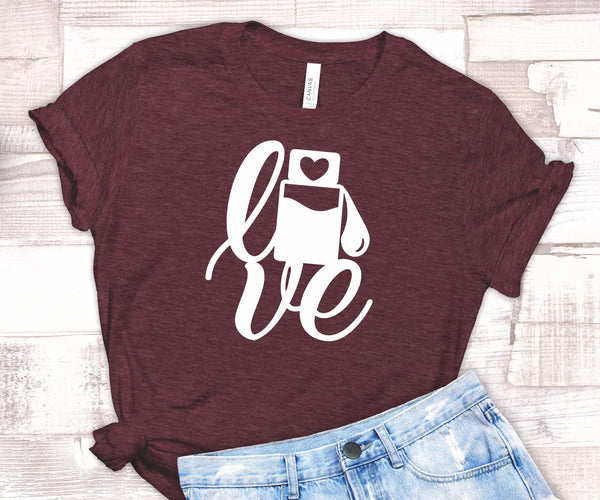 FUN LOVE EO UNISEX TEES - UP TO 4XL - BEAUTIFUL HEATHER COLORS