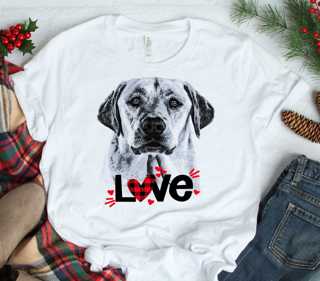 YELLOW LAB LOVE BELLA CANVAS TEES - UP TO 4XL - PERFECT FOR VALENTINE'S DAY - 2 COLORS