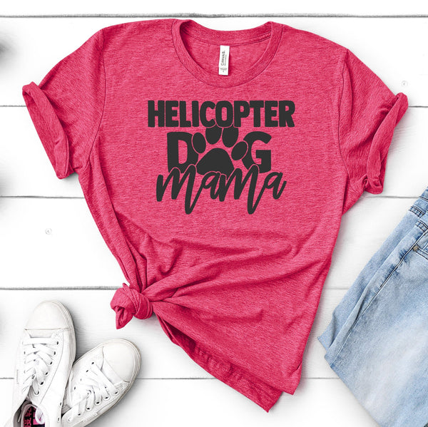 CUTE HELICOPTER DOG MOM TEES - UP TO 4XL - 4 COLORS