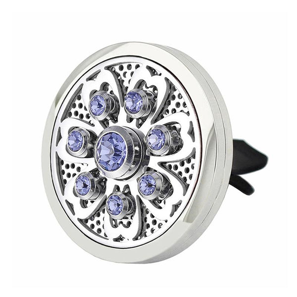 CRYSTAL CLIP-ON ESSENTIAL OIL DIFFUSERS FOR YOUR CAR - 4 CRYSTAL COLORS TO CHOOSE FROM