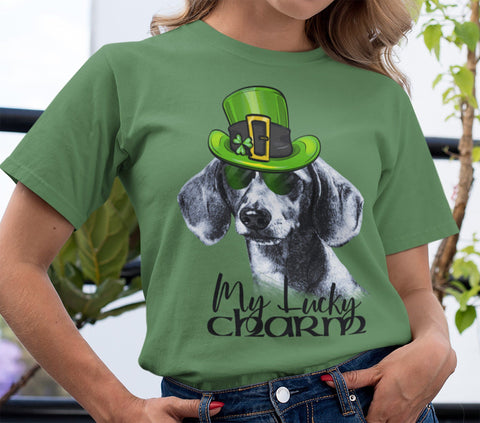 COOL LUCKY CHARM DOXIE BELLA CANVAS TEES - SIZES TO 4XL - 2 COLORS