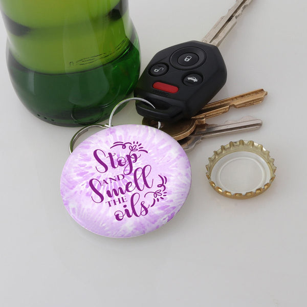 FUN SMELL THE OILS MAGNETIC BOTTLE OPENER/KEYCHAIN