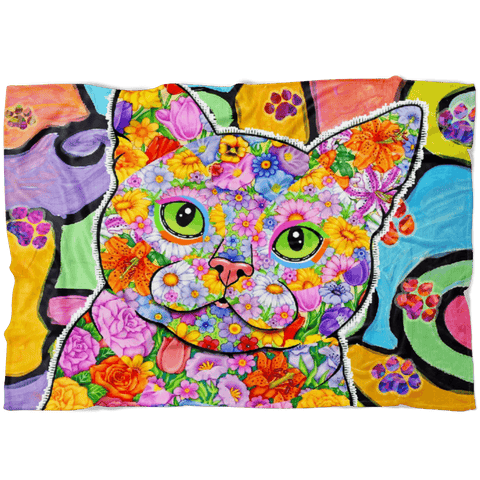 FABUOULS CAT FLEECE BLANKET