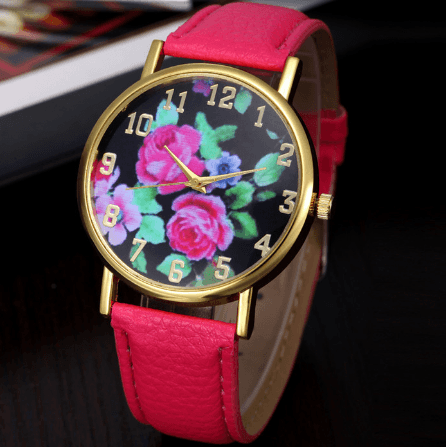 PRETTY ROSE FLORAL WATCH
