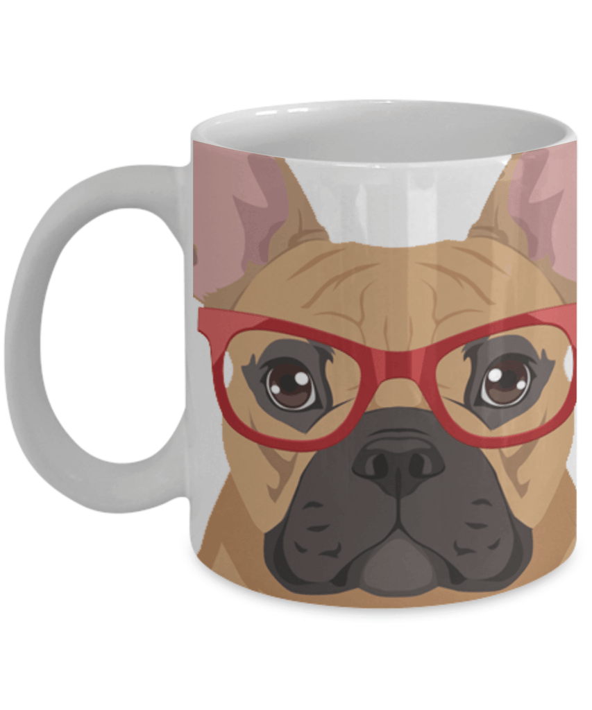 HIPSTER FRENCH BULLDOG MUG