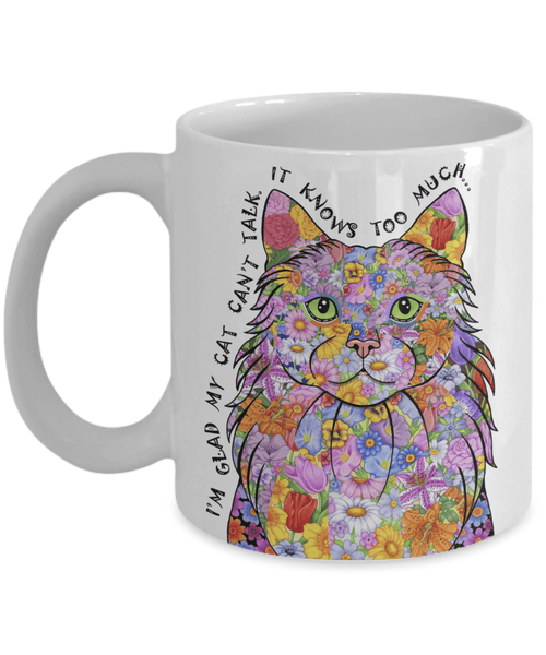 POP ART CAT MUG - DOES YOUR CAT KNOW TOO MUCH?