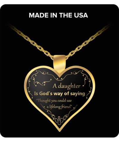 zzzFOR YOUR DAUGHTER - GOLD PLATED NECKLACE