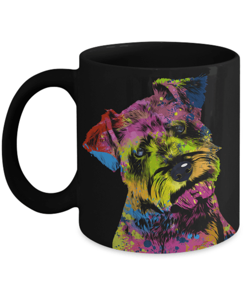 GORGEOUS POP ART SCHNAUZER BLACK MUG - DESIGN ON BOTH SIDES