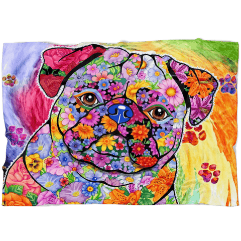 FABULOUS PUG FLEECE BLANKET
