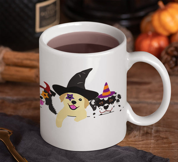 FUN HALLOWEEN DOGS 11 OZ MUG - WRAP DESIGN
