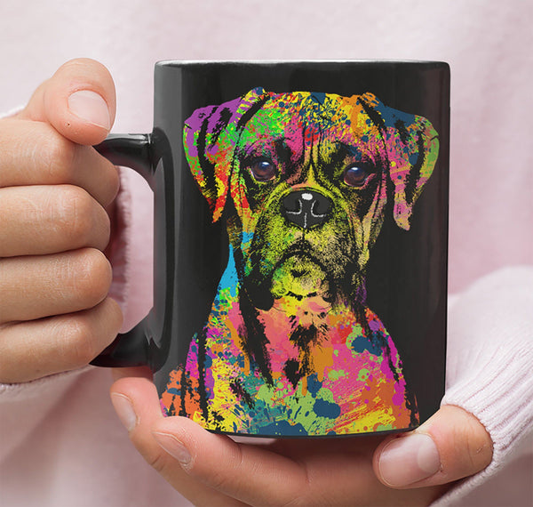 GORGEOUS POP ART BOXER MUG - DESIGN ON BOTH SIDES