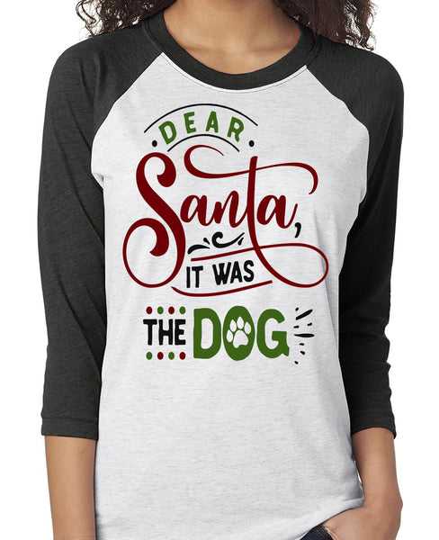 FUNNY IT WAS THE DOG RAGLAN TEE - UP TO 3XL - 2 COLORS