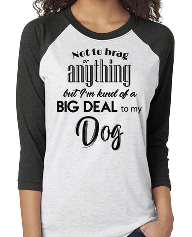 NOT TO BRAG DOG RAGLAN TEE - UP TO 3XL - 3 COLORS