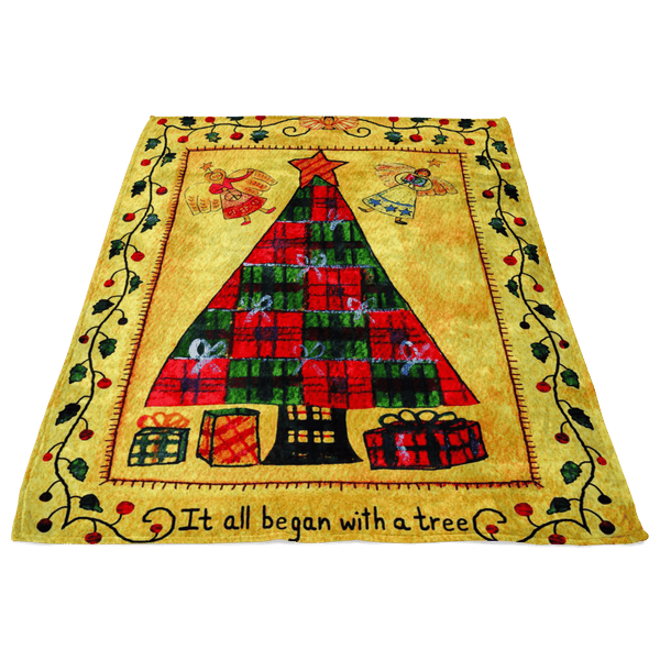FABULOUS CHRISTMAS TREE FLEECE BLANKET