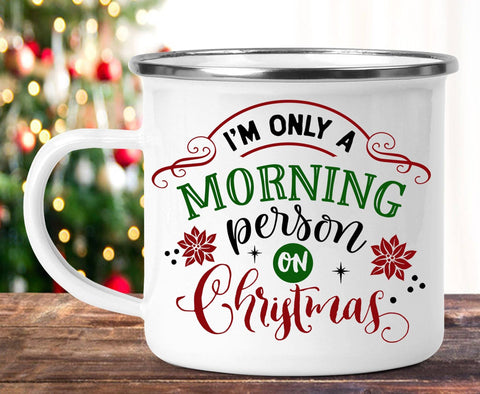 FUNNY CHRISTMAS MORNING PERSON CAMP MUG - BIG 16.9 oz. size