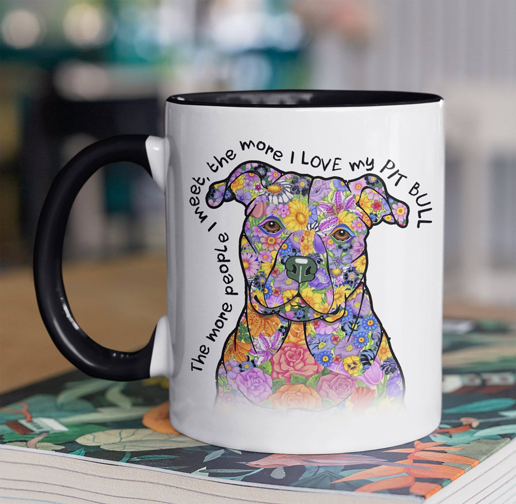 LOVE MY PIT BULL TWO-TONED MUG - 3 COLORS TO CHOOSE FROM