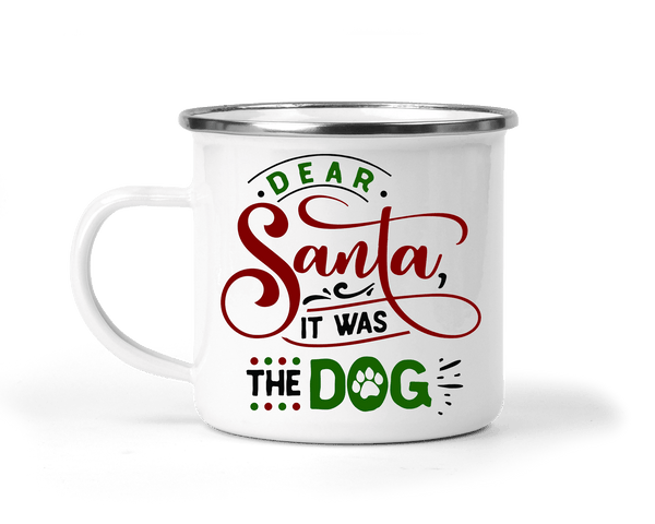 FUNNY CHRISTMAS IT WAS THE DOG CAMP MUG - BIG 16.9 oz. size