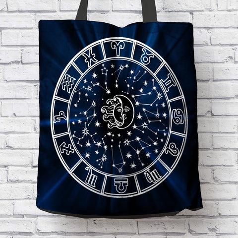 AWESOME ASTROLOGICAL SIGNS CANVAS TOTE